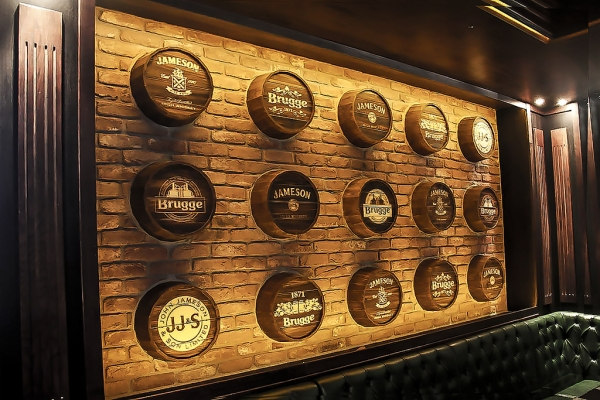 design of the back walls of the bar rack
