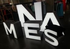 Выставочные объёмные буквы