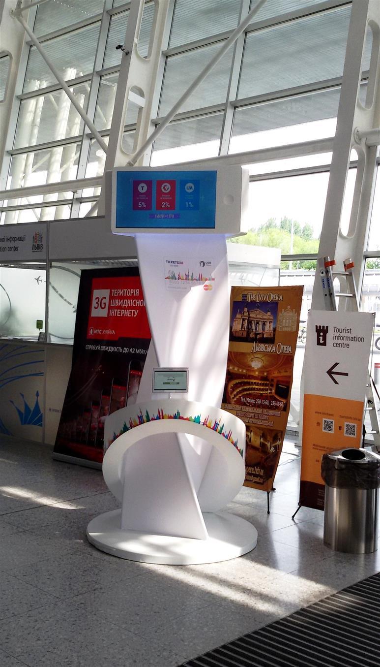 виставковий стенд в аеропорту