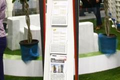 рекламный стенд строительной фирмы на выставке