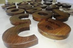 деревянные объемные буквы