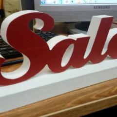 Объемные буквы Sale