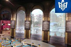 Интерьерная реклама в музее