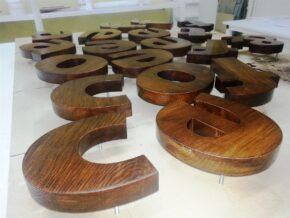 Об'ємні букви з дерева bykvi_derevo C&T. Three-dimensional letters made of wood and other materials