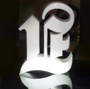 dimensional letters lightbox 300x296 - Объемные буквы для интерьерной рекламы