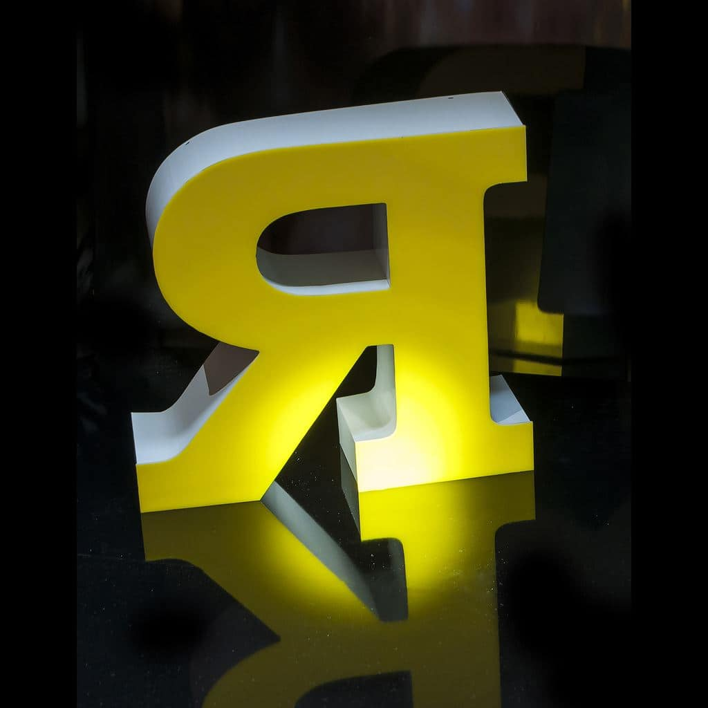 Услуги для рекламных производств - изготовление объемных букв